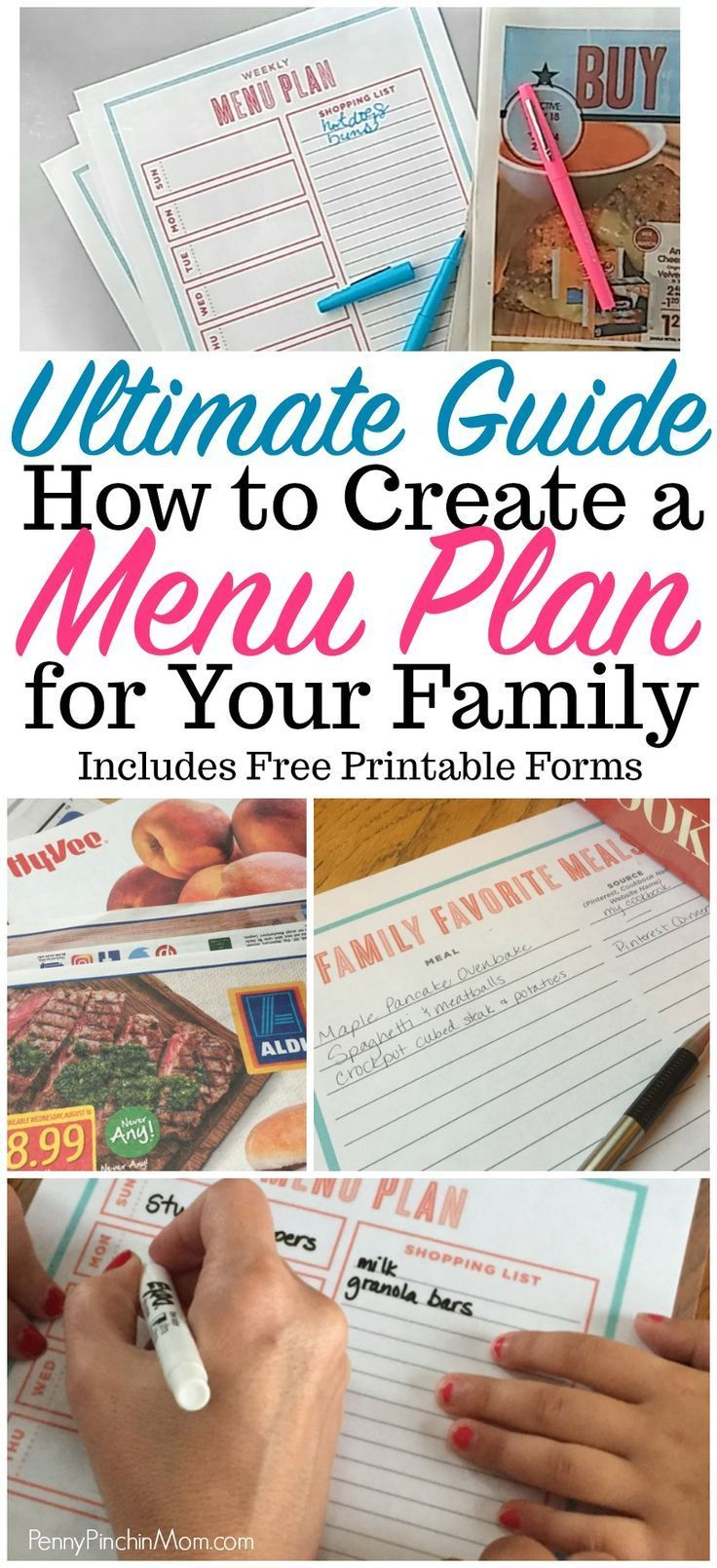 The Ultimate Guide Creating a Workable Meal Plan is part of Organization Calendar Menu Planning - Meal planning saves time and money! Get started with our free printable guides and stepbystep instructions