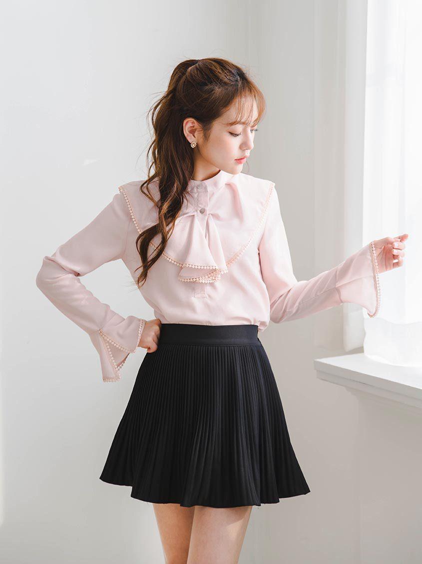 5298fdf080d Dazzling Her Chiffon Mini Skirt | Korean Fashion in 2019 | Korean ...