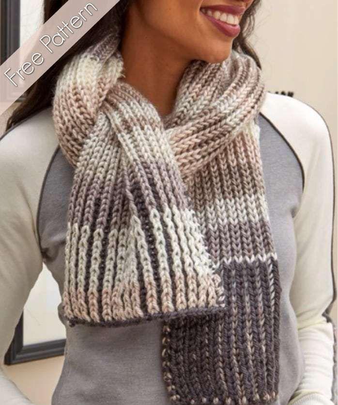 Fantastic Brioche Scarf   Brioche knitting patterns ...