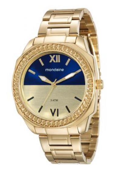 506429a5a53 76558LPMVDE1 Relógio Feminino Mondaine Analógico Dourado