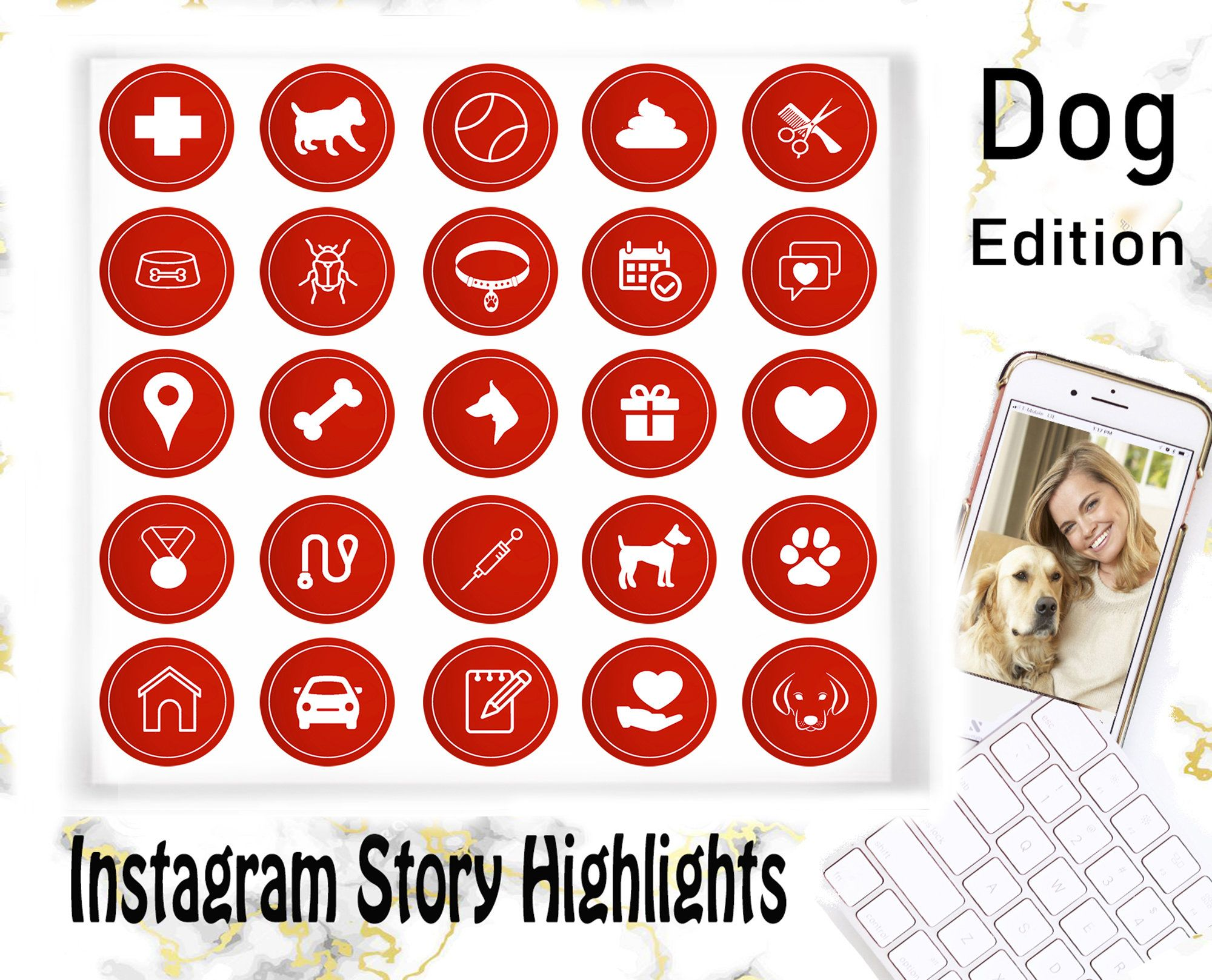 Dog Instagram story covers, Instagram Story Highlights