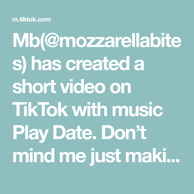 Mb Mozzarellabites Has Created A Short Video On Tiktok With Music Play Date Don T Mind Me Just Making A Chandler Bing Live Wallpap In 2020 The Originals Video Music