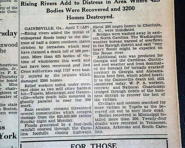 The Tupelo-Gainesville Outbreak was an outbreak of seventeen