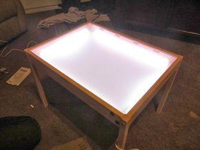 Hobby mommy creations diy light table ikea hack tavolo luminoso diy light table table e - Tavolo luminoso per bambini prezzi ...