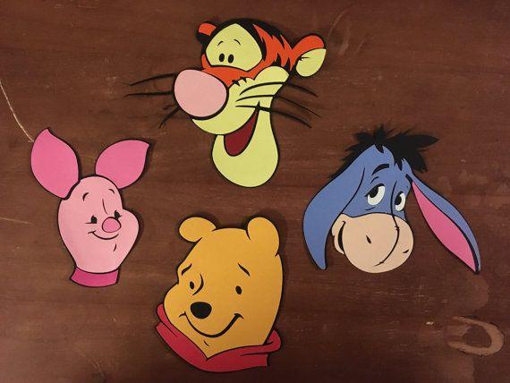 Eeyore and Piglet Face die cuts Tigger Set of 4 Pooh