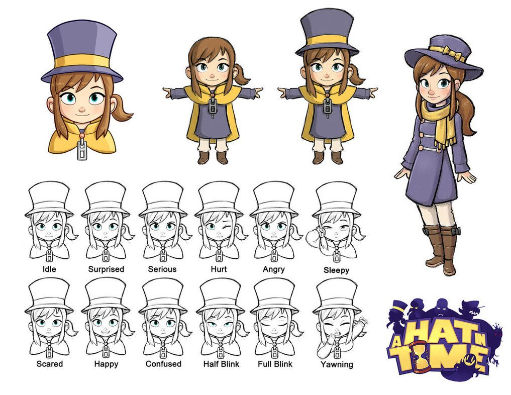 Hat Kid Designs A Hat In Time Hat In Time Hat In Time Art