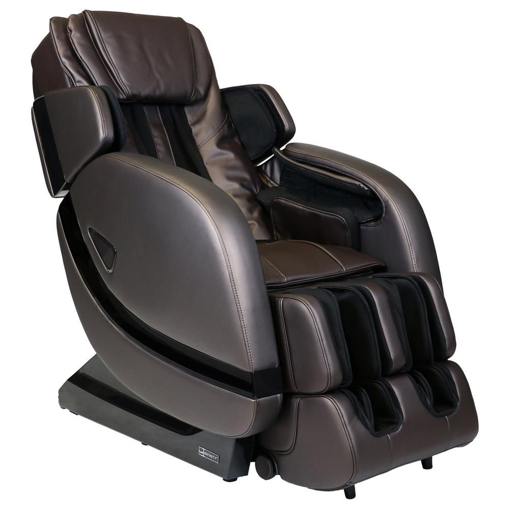 Infinity Escape Brown Zero Gravity Massage Chair With Space Saving