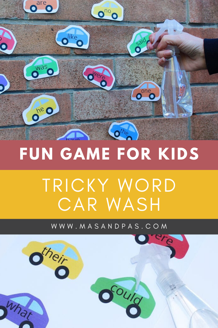 Tricky Word Game Car Wash In 2020 Learning Games For Kids Interactive Learning Tricky Words