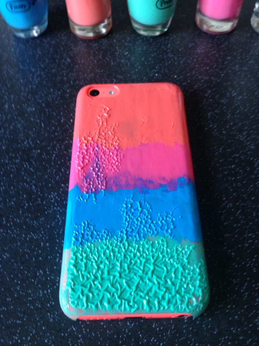 I Made My Own Diy Ombre Phone Case Using Nail Polish Diy Phone Case Diy Ombre Diy Phone