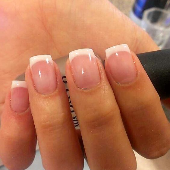 This Amazing Natural Nail Polish Is New School French Tip Acrylic Nails French Tip Nails White Tip Nails