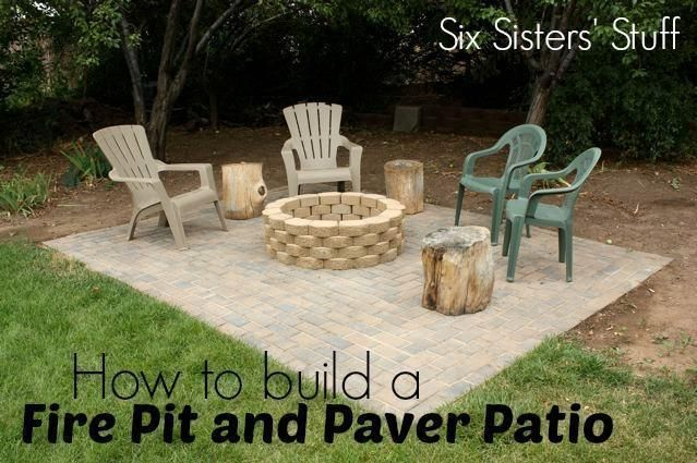 How to build your own fire pit and paver patio from ...