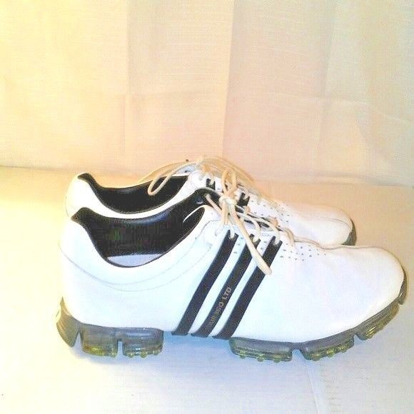 separation shoes d8c42 194a8 Adidas Mens 3D Fit Foam White Leather Golf Shoes w Cleats Size 12  adidas