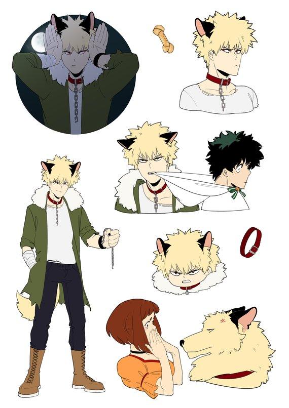 Halloween AU stickers pack: Bakugou Katsuki, Midoriya Izuku