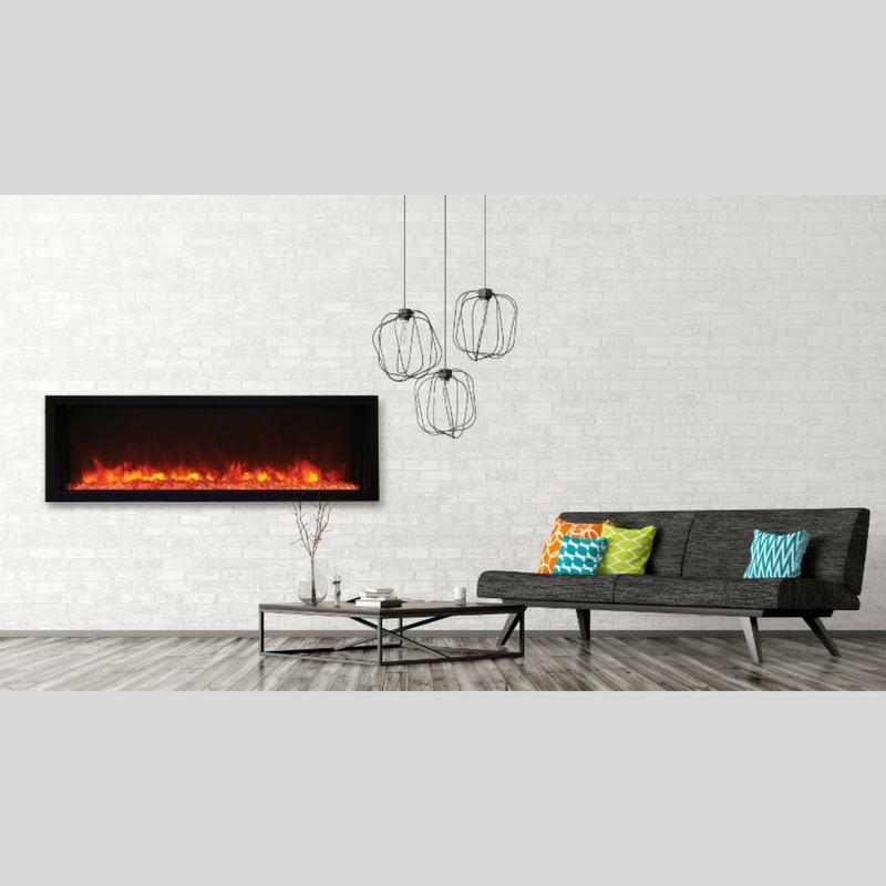Amantii Panorama Built In Extra Slim 50 Inch Electric Fireplace In