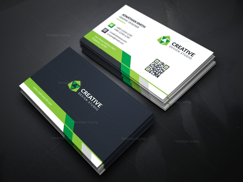 Modern Business Card Template With Creative Design Modern
