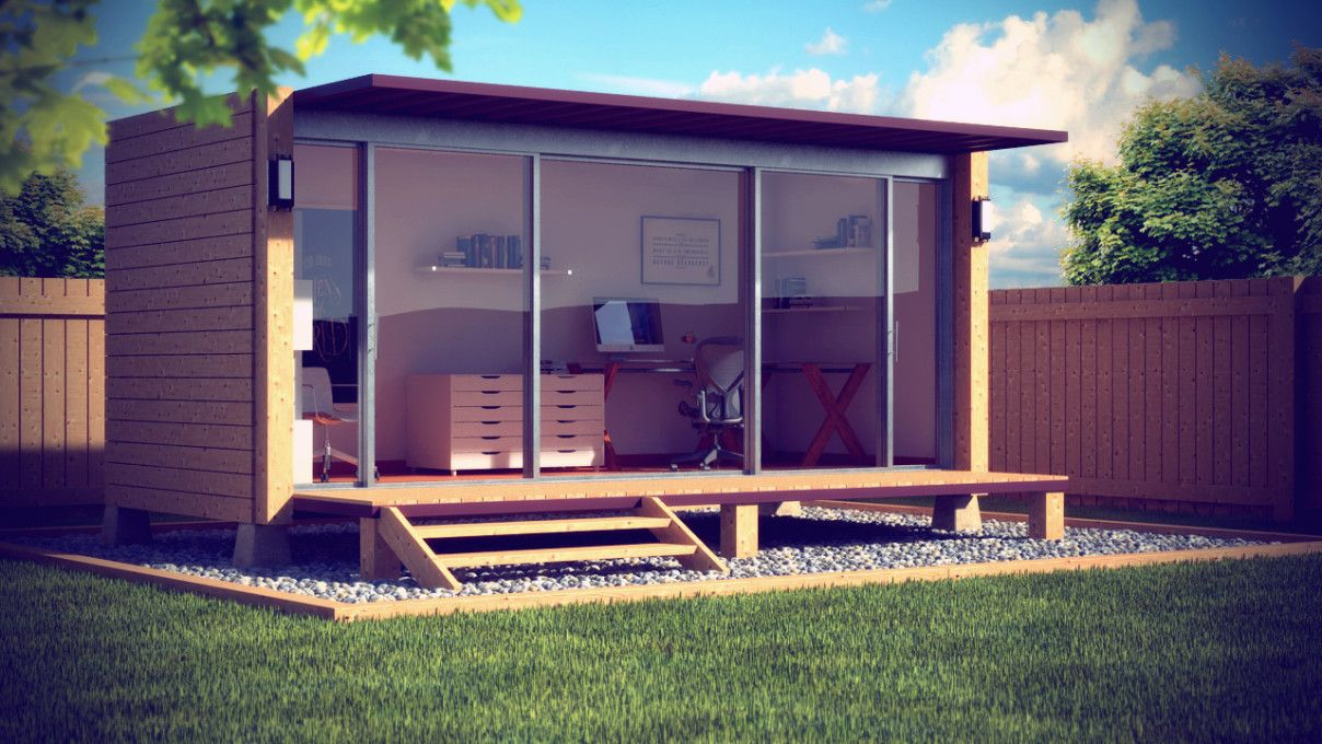 Elegant Home Office Incredible Prefab Home Office To Build In Your Backyard. Prefab  Room, Backyard Office Prefab, Prefabricated Offices Home Offices