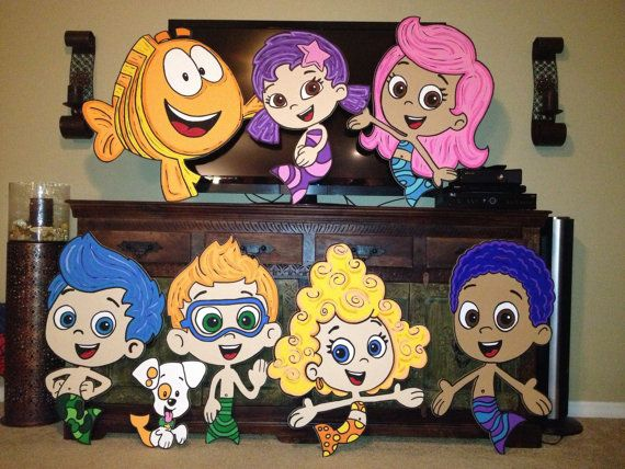 one bubble guppies 3ft character prop molly nonny gil oona goby