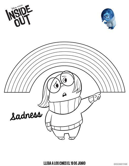 Dibujos de Intensamente tristeza para colorear | Ludoteca ...