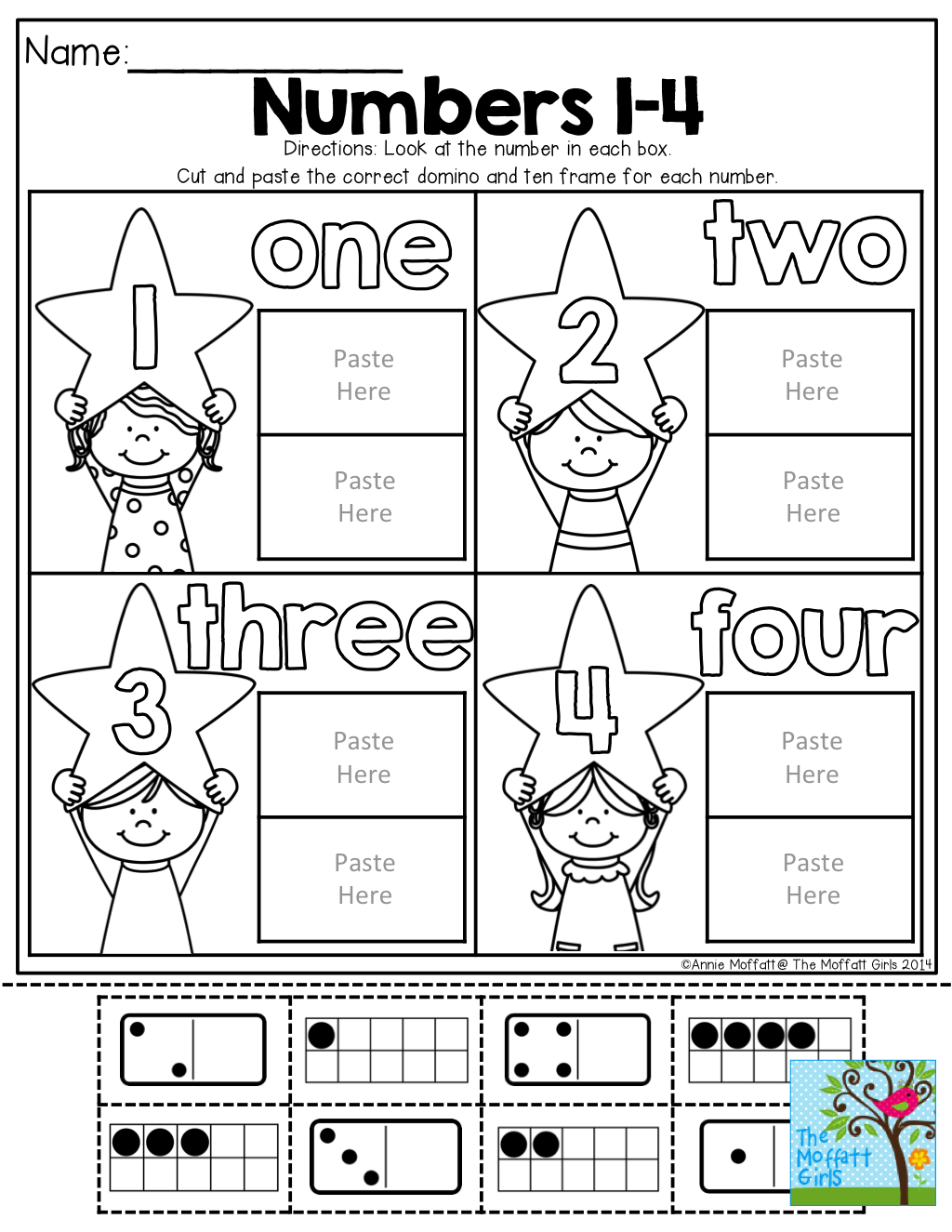 Workbooks ten frame worksheets printables : Cut and Paste the ten frame and domino that matches! TONS of FUN ...