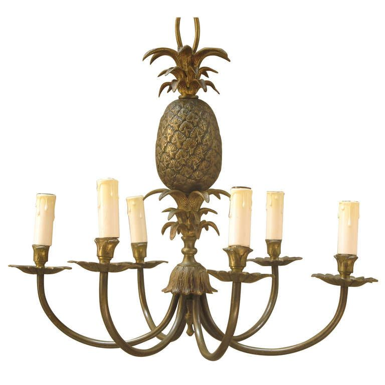 Maison charles brass pineapple chandelier french 1940s maison charles brass pineapple chandelier french 1940s from a unique collection aloadofball Gallery