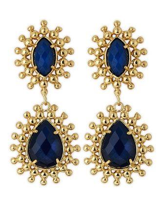 Neiman marcus jewelry kendra scott blue onyx earrings by for Kendra scott fine jewelry