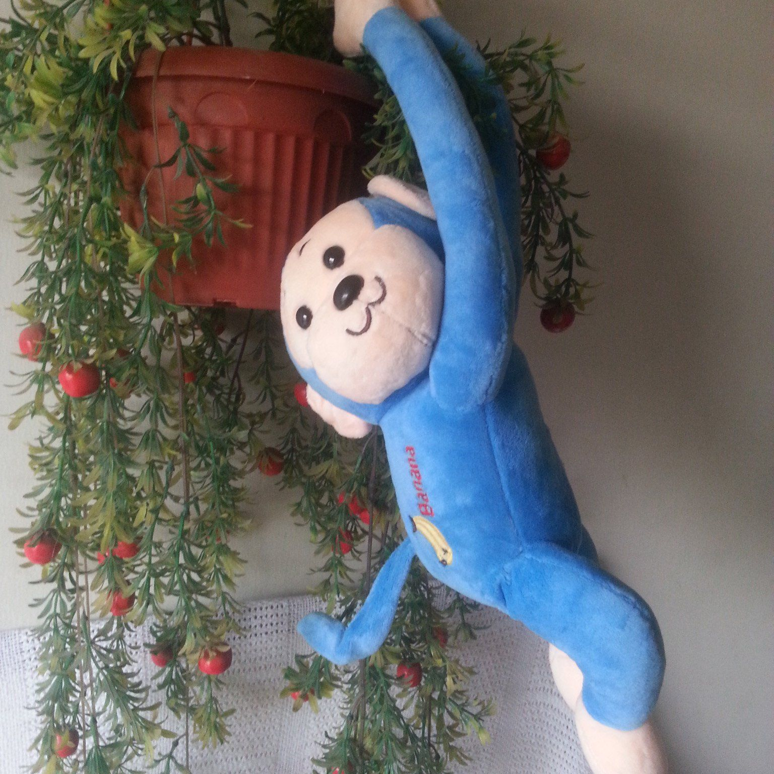 hanging monkey for kids room or car decoration blue price rs