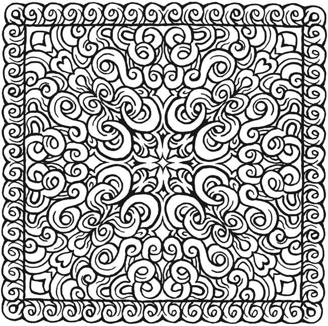 Mandala 427 Square Mandalas Coloring Book Dover Publications
