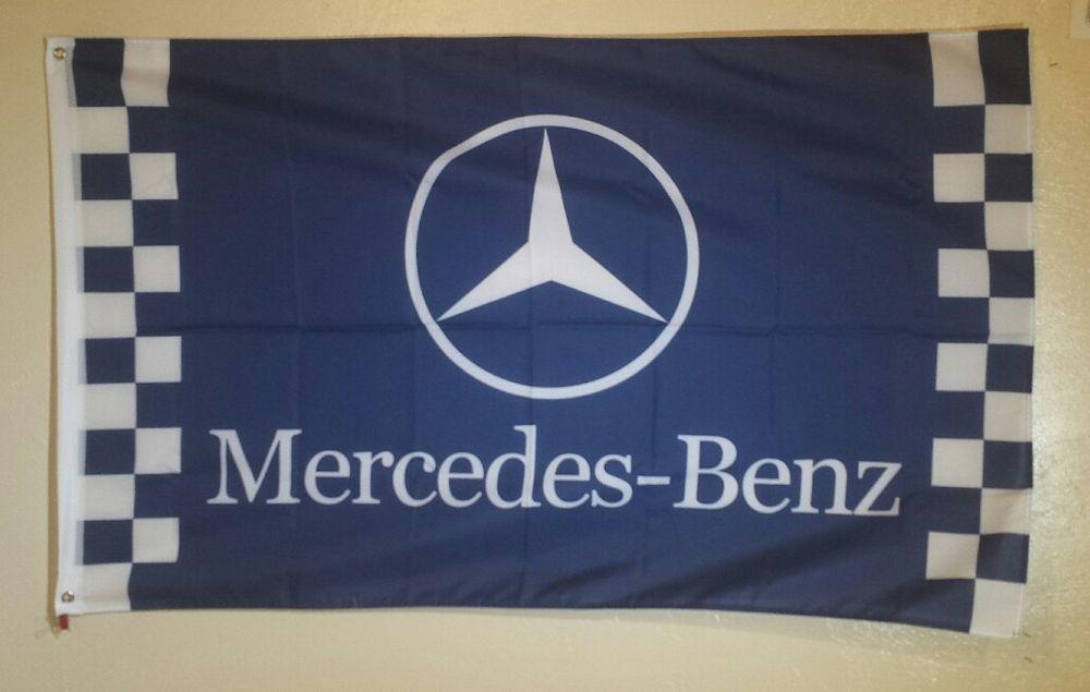 Mercedes benz logo 3 x 5 garage wall banner flag sign man for Mercedes benz gifts