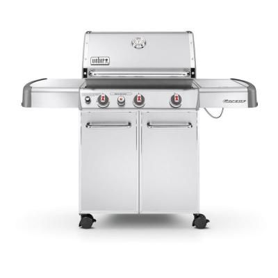 Weber Genesis S 330 3 Burner Natural Gas Grill In Stainless Steel 6670001 The Home Depot Natural Gas Grill Propane Gas Grill Best Gas Grills