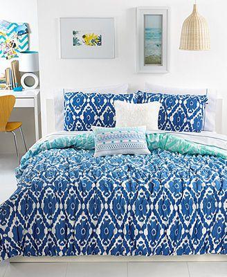 Seventeen Bedding Ombre Ikat Full Queen Comforter Set Comforter