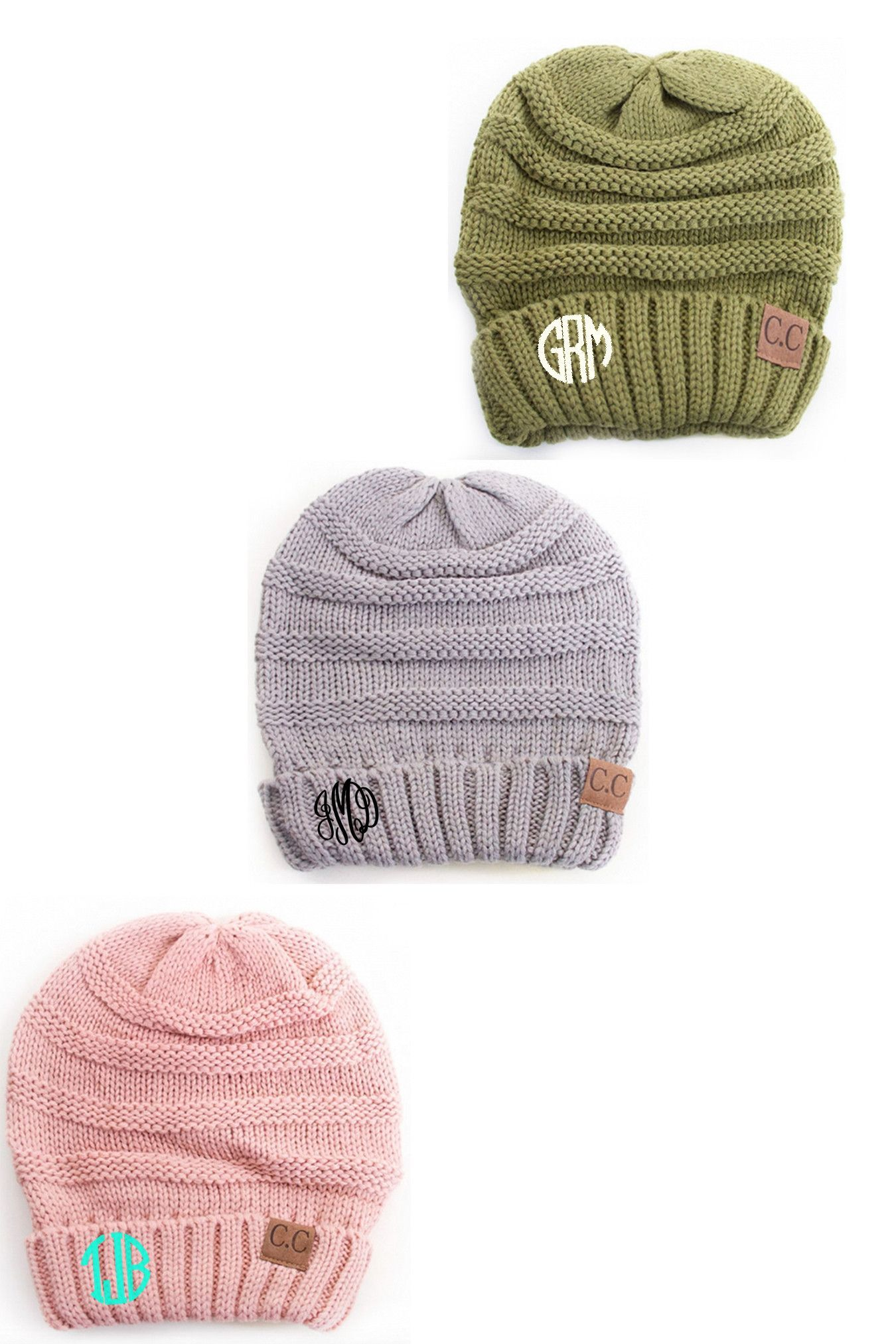 LOVE! LOVE! LOVE! These monogrammed beanies will be your favorite ... ad8f83dc99a