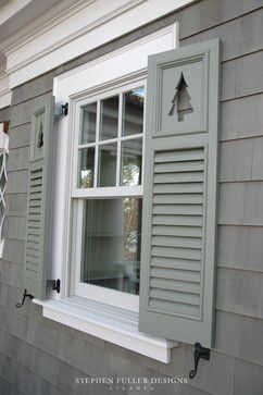 Louvered Shutters With Tree Cutouts Need Cut Outs Get Creative You Come Up It We Can Do Www Timberlane 1 800 250 2221 For A