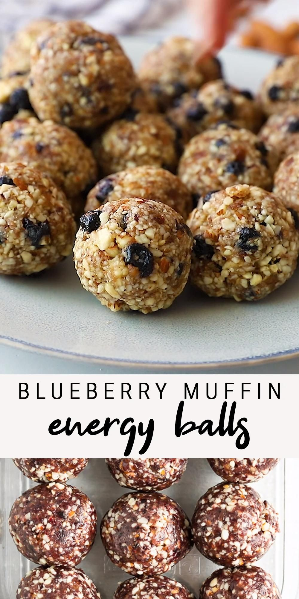 Healthy Blueberry Muffin Energy Balls | Vegan + Gl