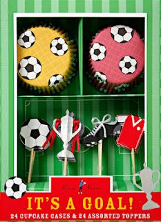 Fodbold cupcakesæt