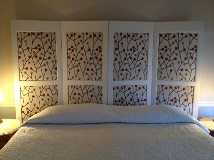 using a room divider as a headboard - Google Search