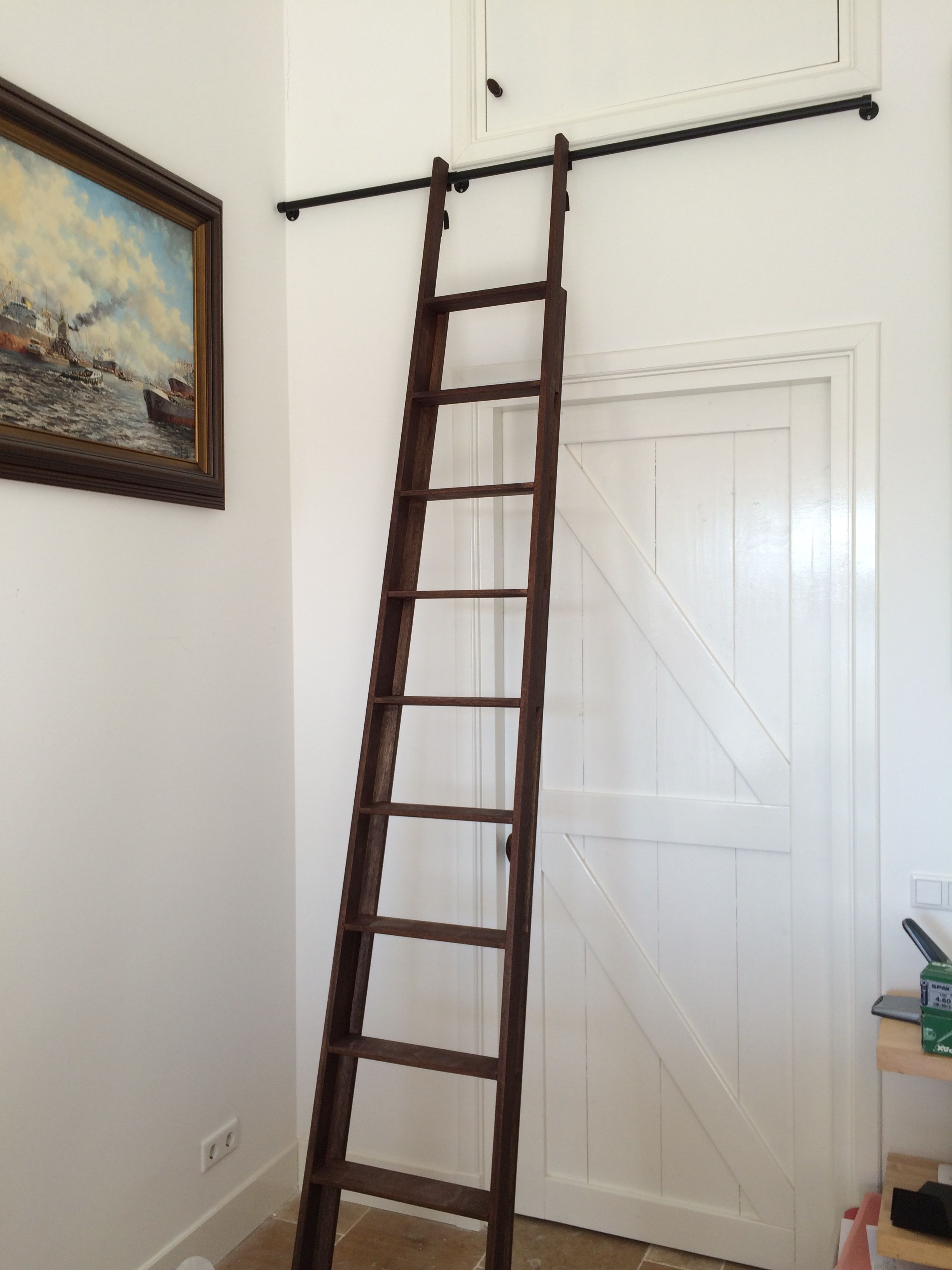 Klassieke trap with ladder voor in huis for Decoratie ladder blokker