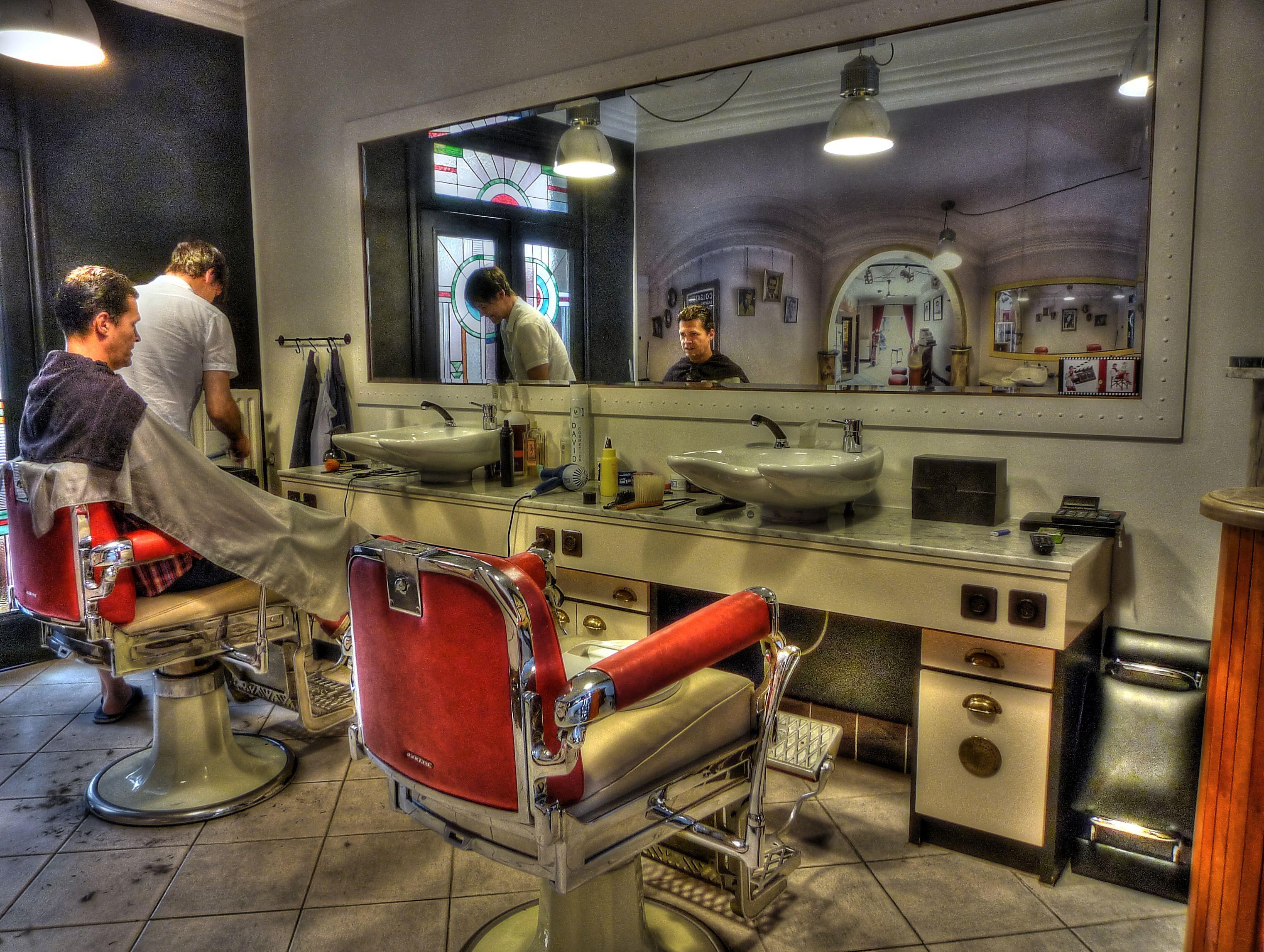 Vintage Barbershop Vintage style B...