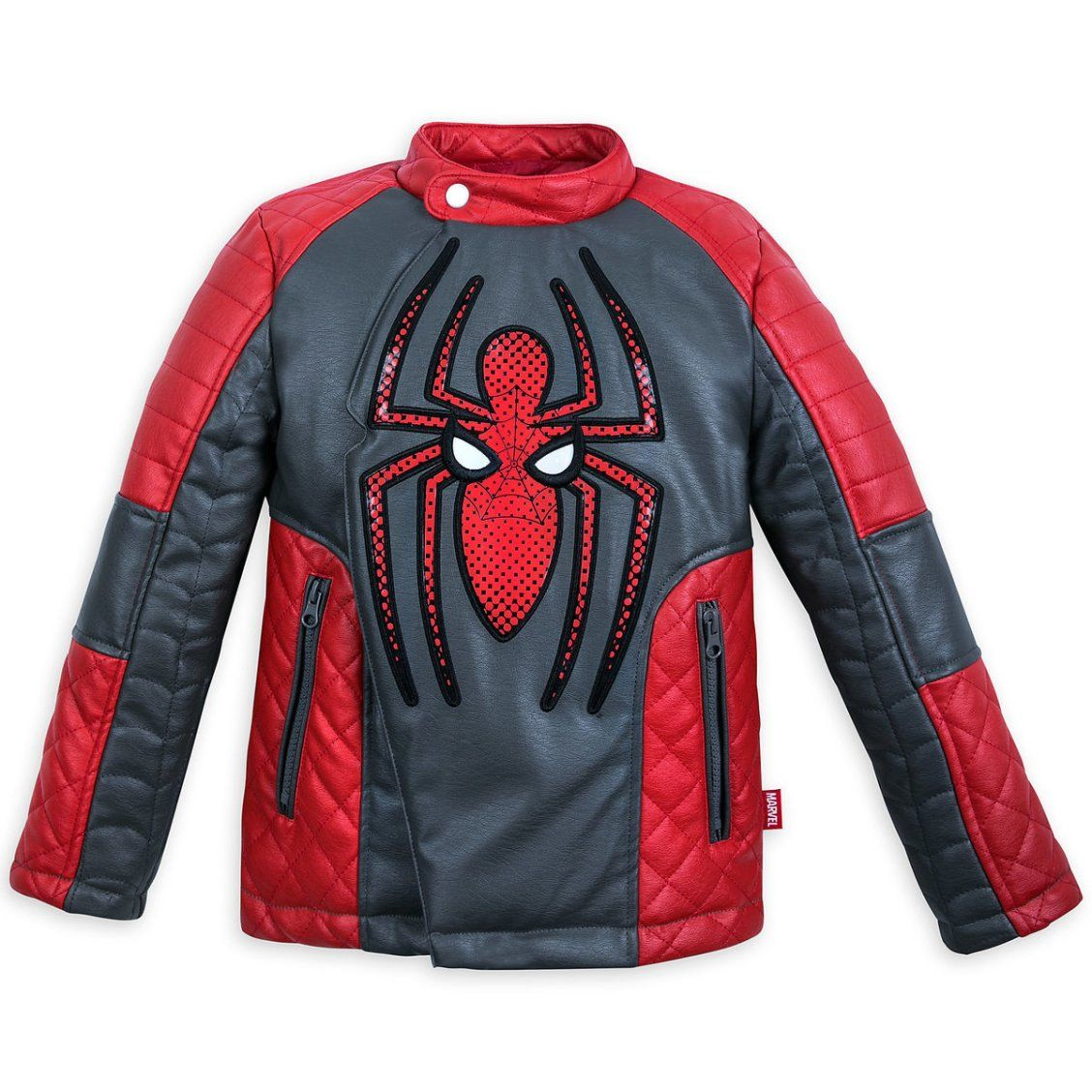 ea97e578209e Spider-Man Faux Leather Jacket for Kids