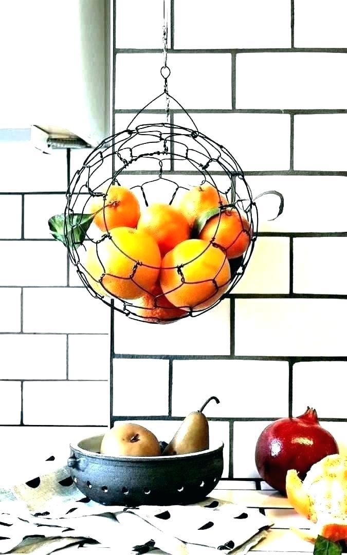 Hanging Fruit Basket Ikea Yeffgadgets Co Kitchen Decor Etsy