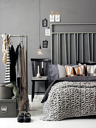 industriële slaapkamer #grijs   Kamer naar kamer: de slaapkamer ...