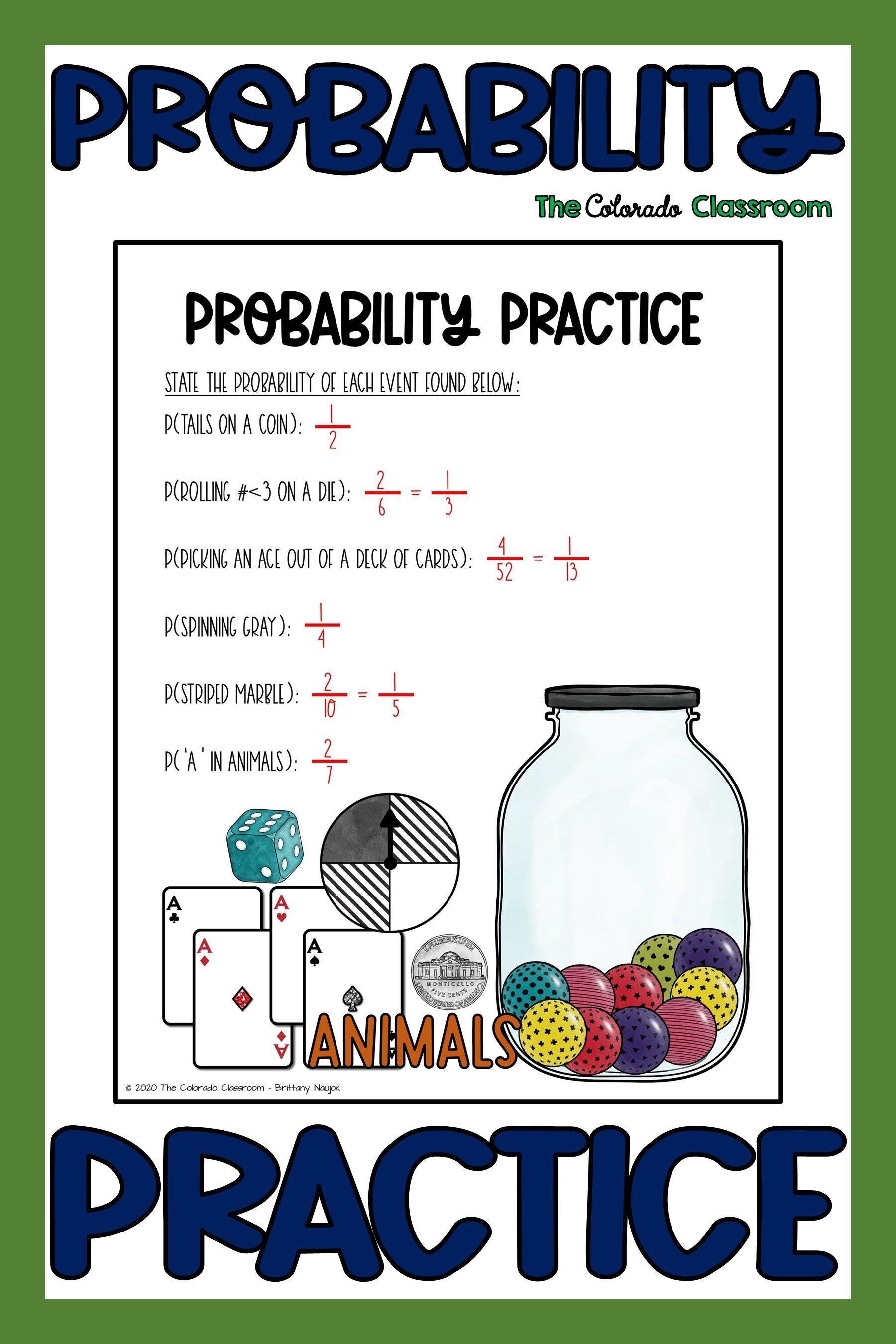 Simple Probability Freebie In