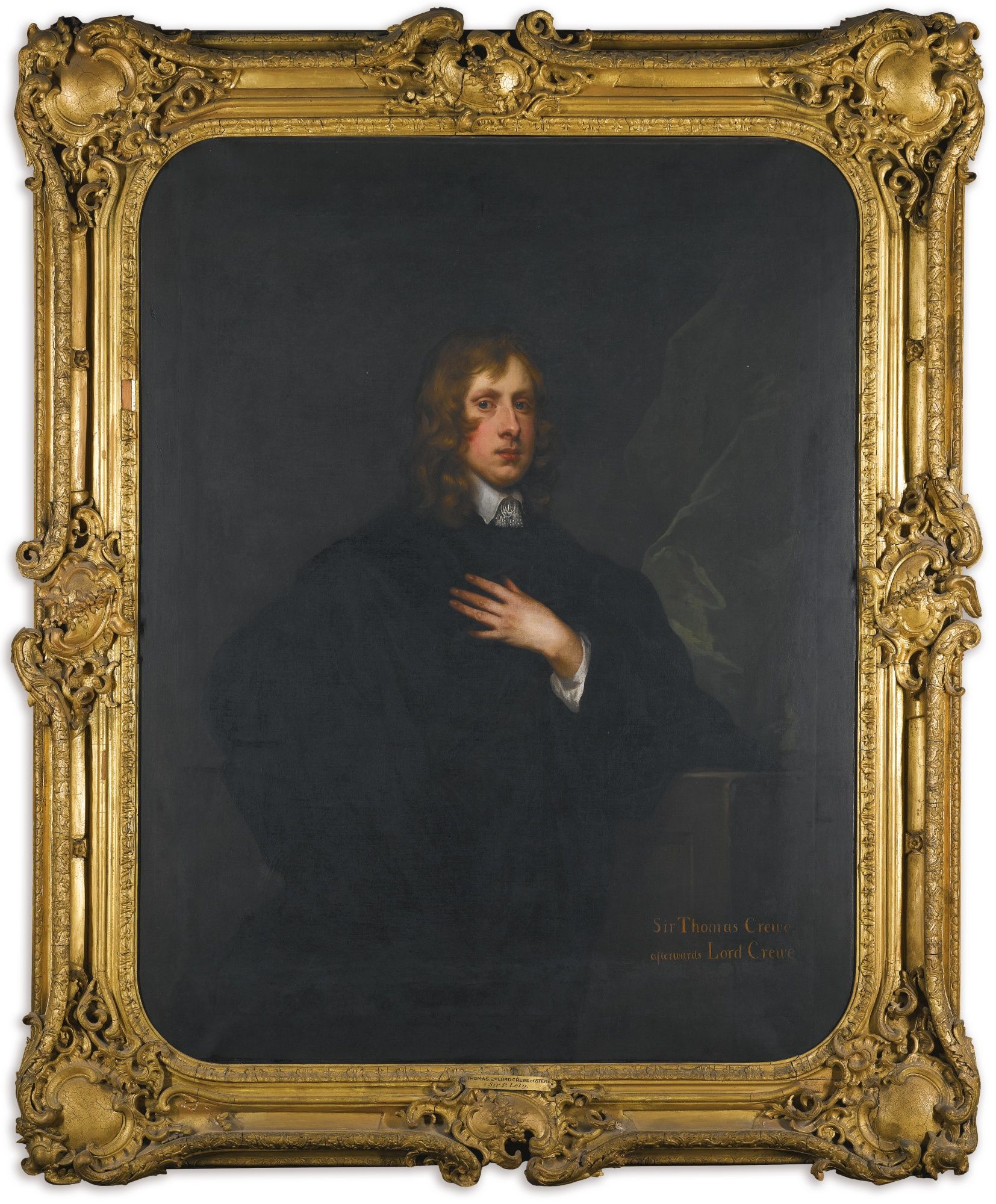 Sir Peter Lely SOEST 1618 - LONDON 1680 PORTRAIT OF THOMAS CREW, 2ND BARON CREW OF STENE (1624-1697), STANDING THREE-QUARTER LENGTH