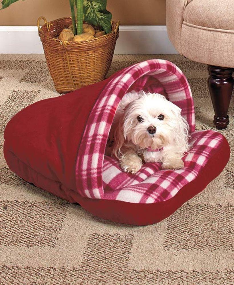Plaid Slipper Pet Bed Dog Cat Puppy Toy Small Medium House Snuggle