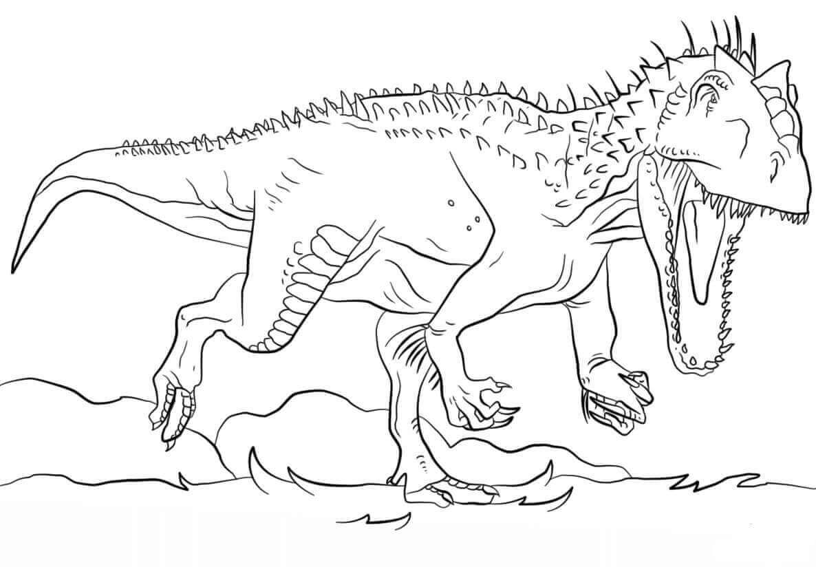 Free Printable Jurassic World Coloring Pages Dinosaur Coloring