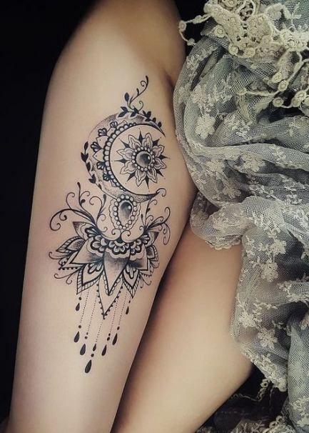 26 Ideas Tattoo Mandala Oberarm Lace Tattoo Feminine Tattoos Tattoos
