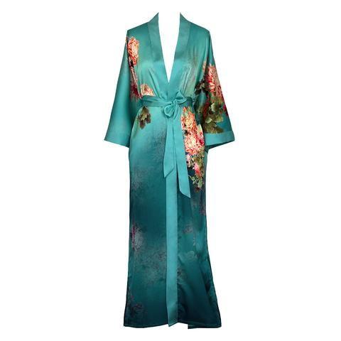 9b2423f53e7 Coral Chrysanthemum Kimono Robe