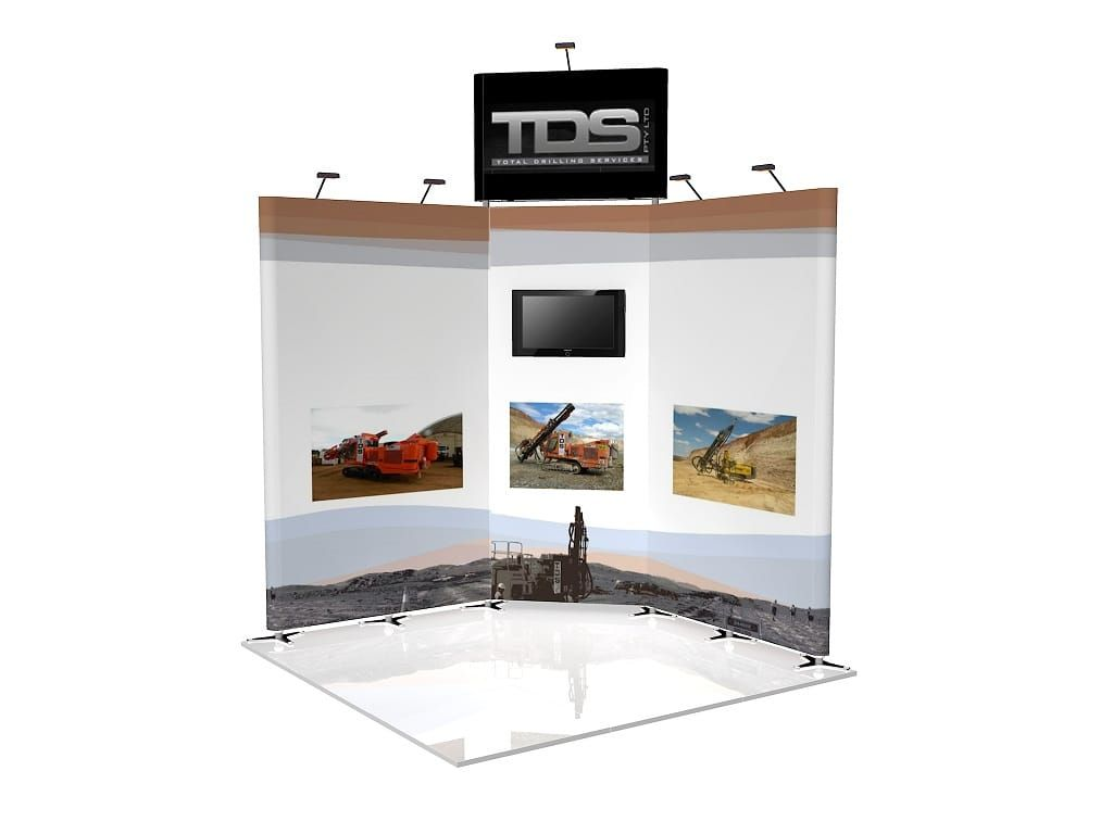Cheap Exhibition Stand Design : Exhibition stand with tv stands