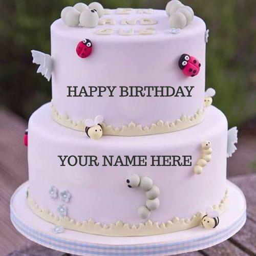 Write Name On Birthday Cake Birthdays Birthday Cake Happy