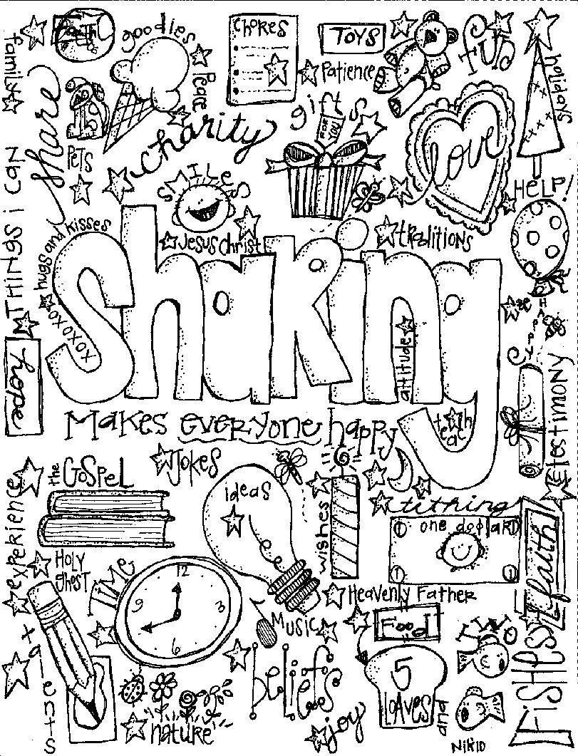 sharing coloring page | CTR | Lds coloring pages, Bible ...
