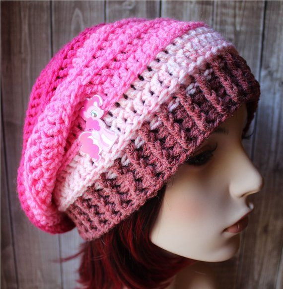 Pink Slouchy Beanie - READY TO SHIP - Women s Hats - Toque - Ladies Hats -  Slouch Hat - Oversized Ha 39e6da87d02